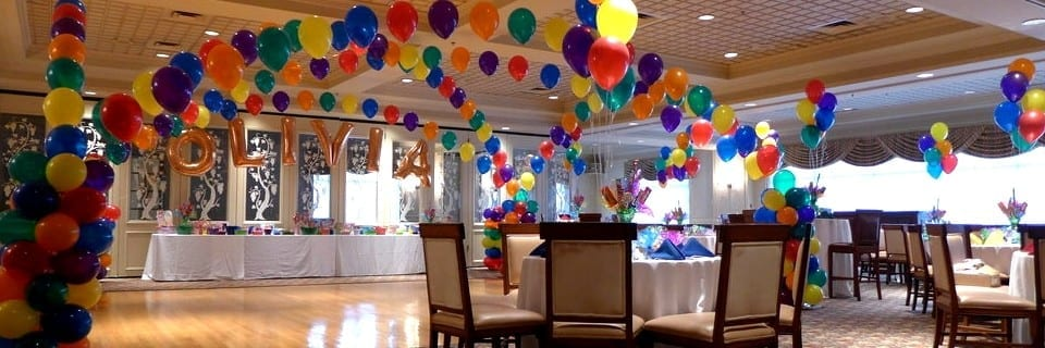 Candy colored sweet 16 decorations